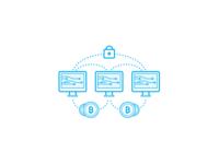 Blockchain technology icons