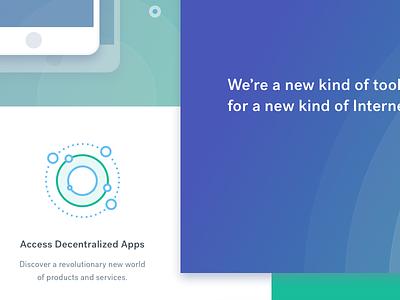 Status iconography ui gradients blue green branding user interface
