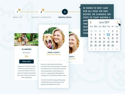 My Dog Butler austin premium pets dogs logo branding web design user interface design usr experience