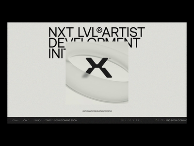 NXTLVL® Pre-Launch Landing Page - UI art direction branding 3d music interaction experimental prototype website design ux management company music website landing page animation interaction design