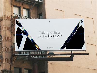 NXTLVL®  Branding - NYC Billboard 3d logo design music industry music brand identity print billboard art direction branding