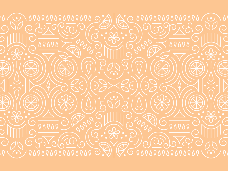 Orange Pattern line pattern line art pattern