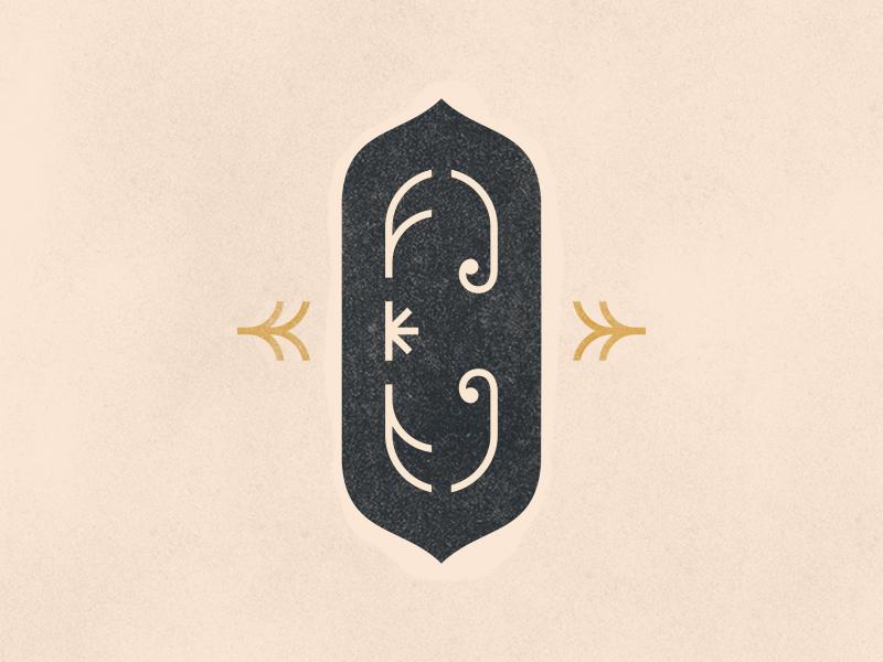 C floral letter letter c c logo