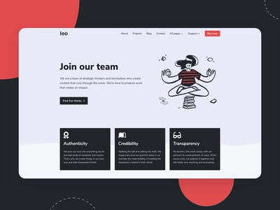 Team page for creative agencies Bootstrap