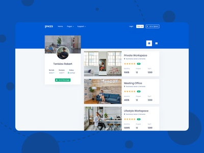 Profile Page from Spaces (Bootstrap Template)