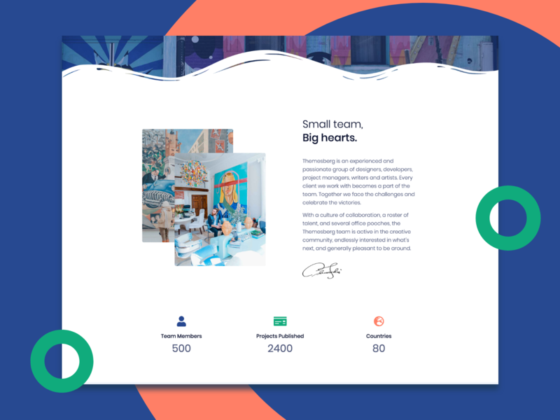 About Section from Pixel Pro Bootstrap UI Kit creative design system ui kit design ui kits waves modern clean colorful section about section about themesberg pixel pro pixel bootstrap template bootstrap4 bootstrap ui ui kit