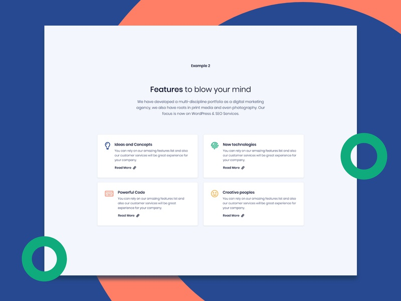 Features card from Pixel Pro Bootstrap UI Kit cards feature uikit colorful modern clean themesberg theme bootstrap4 bootstrap