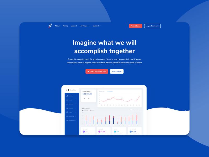🚀 Rocket - SaaS Bootstrap Template ux ui vector template modern themesberg bootstrap 4 business corporate clean bootstrap4 bootstrap saas