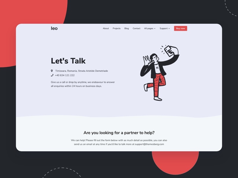 Agency Contact Page Bootstrap illustration bootstrap 4 ui template theme bootstrap4 themesberg agency branding contact page contact us contact agency website agency bootstrap
