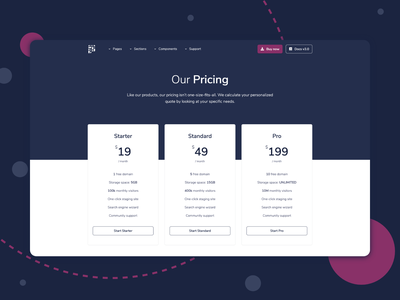 Pixel Pro - Bootstrap Pricing Section pricing plan themesberg pixel pro bootstrap theme bootstrap4 bootstrap ui kit bootstrap pricing page pricing cards pricing