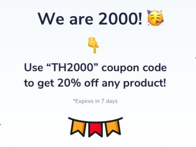 Themesberg celebration creative + promotion theme bootstrap4 bootstrap discount voucher coupon code social media post promotion discount themesberg celebrate
