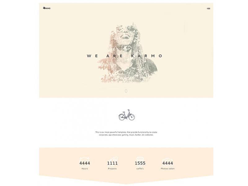 Karmo: A free HTML templates for agencies and creatives theme creative html free freebies