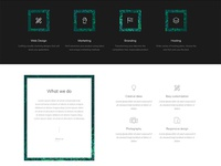 Bootstrap services page