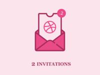 2 Dribbble Invitations !!!
