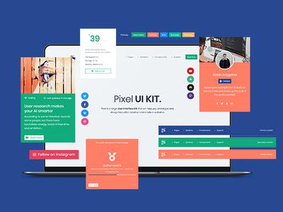 Pixel PRO - Premium Bootstrap 4 UI Kit by Themesberg on Dribbble