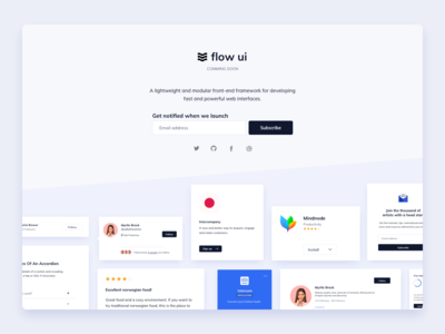 Flow UI Coming Soon Page