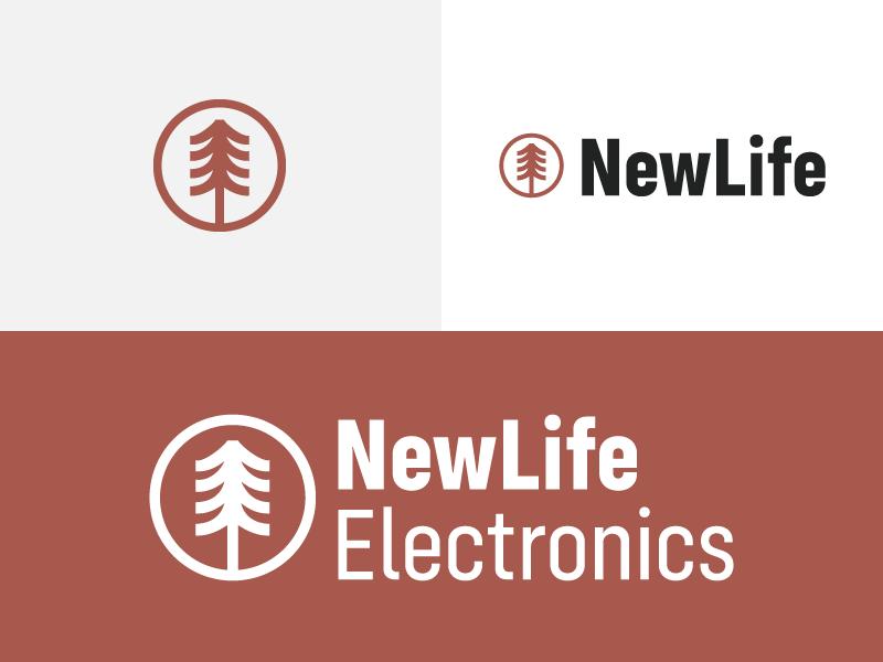 NewLife Electronics - Tree illustrator business logo branding