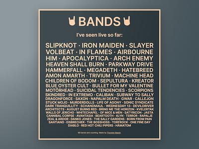 Bands website typography simple minimal html heavy metal design concert css bands