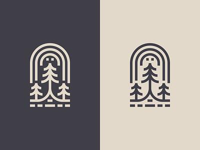 Three Trees water trees simple rainbow minimal mark logo illustration icon design branding