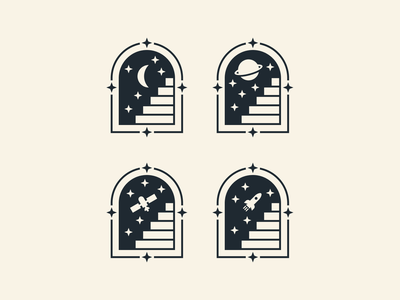 Stairway to the Stars figma stars stairway space branding logo illustration design