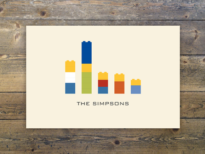 Lego The Simpsons bart homer illustration lego lisa marge maggie poster simpsons the simpsons