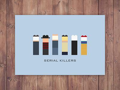 Lego Serial Killers serial killers poster pinhead pennywise michael myers lego leatherface jason voorhees illustration halloween freddy krueger