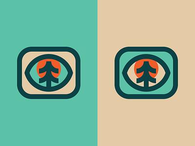 Tree Eye figma simple minimal mark tree logo illustration icon eye design branding