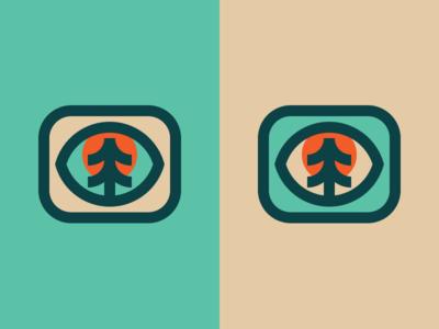 Tree Eye simple minimal mark tree logo illustration icon eye design branding