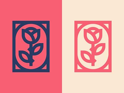 Rose simple rose minimal mark logo illustration icon design branding