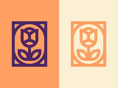 Tulip simple tulip minimal mark logo illustration icon design branding