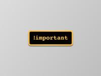 !important Enamel Pin Design
