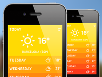 Weather App Design (Summer Edition)
