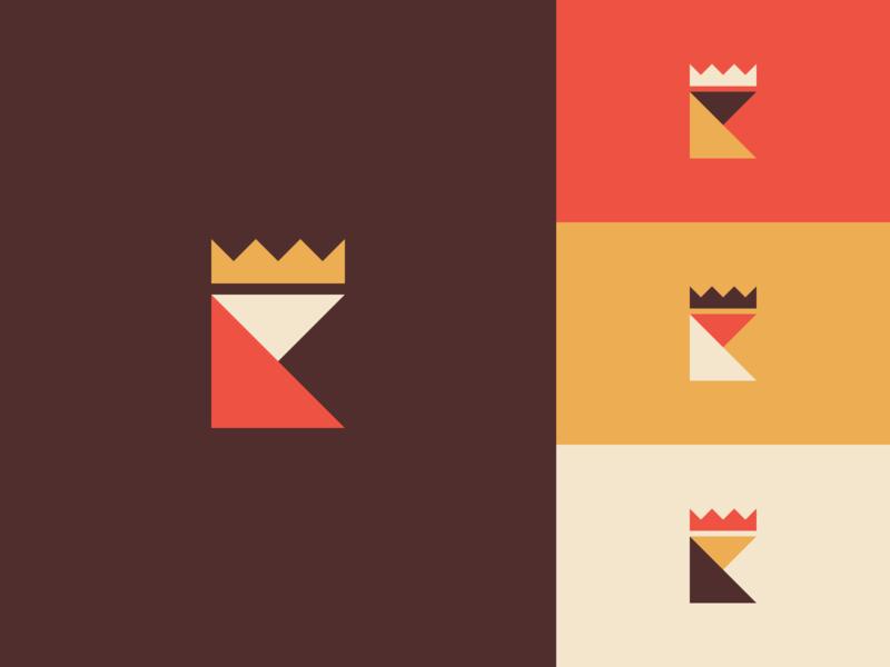 Royal K simple royal mark logo king k illustration design crown
