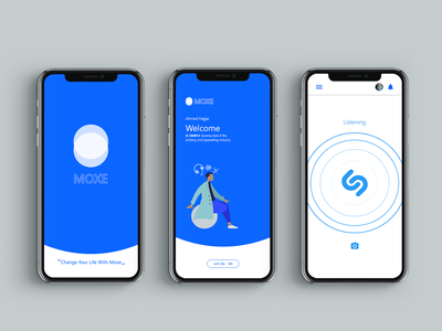 splash screen / welcome / Search via Shazam