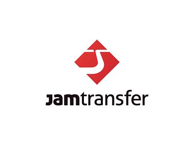JamTransfer Logo Exploration pictogram typography flat branding logo vector design red taxi road way monogram jt jam transfer airport