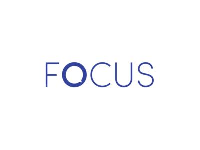 FOCUS - Language School school language school language speech bubble speech typography icon flat vector design branding logo