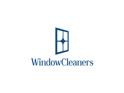 Window Cleaners Logo Concept in PANTONE® Classic Blue
