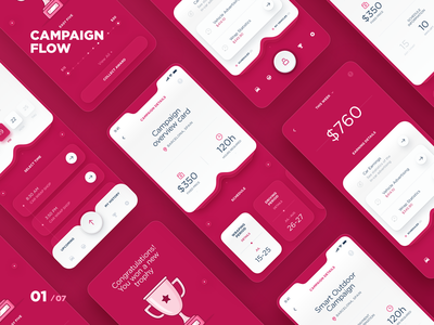 MAD - Campaign flow application illustration dtail studio statistics interactions data taxi driver ux ui ai mobile ui analytics campaign tracking advertising car mobile taxi app interface