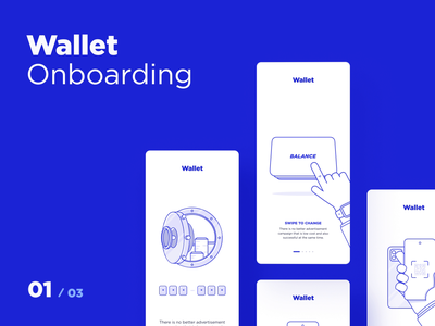 Wallet - Onboarding icons payments bounce wallet balance cards after effect animation onboarding schedule crypto dtail studio illustration ae app interaction design ux ui onboarding illustration