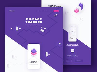 Website & Application Design illustration app flat clean icon ux ui design details tracker web design sketch