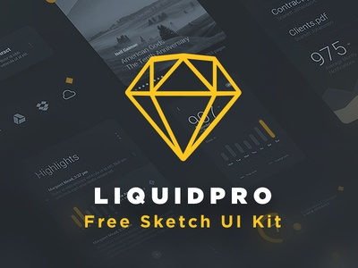 LiquidPro Sketch UI Kit - Thumbnail Update