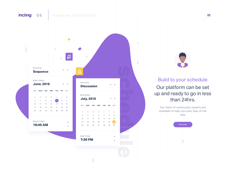 Feature illustration icon illustration dtail freebie clean ux design concept product ux ui web design responsive ux data analytics website minimal dashboard interface event layout landing page