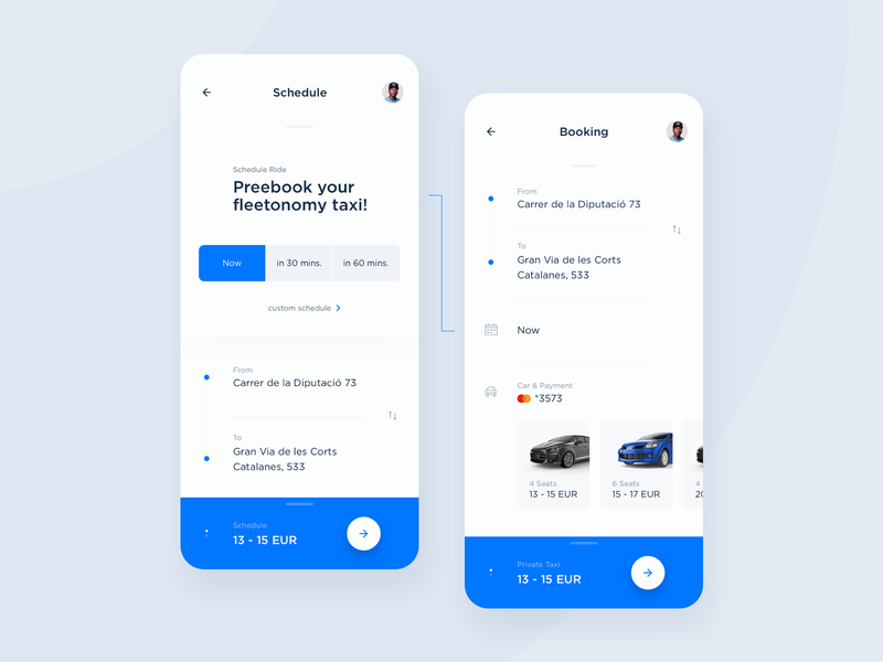 Fleet - Schedule UI app ui ui  ux tracking analytics taxi taxi app driver interface interaction ux design dashboard ui location map ui data booking schedule statistics rounded mobility