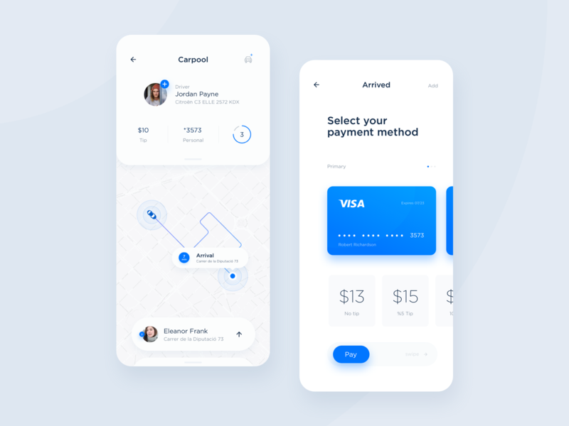 Fleet - Trip & Payment UI strategy dtailstudio mobility statistics booking data map ui location dashboard ui ux design interaction interface driver taxi app taxi analytics tracking ui  ux ui app