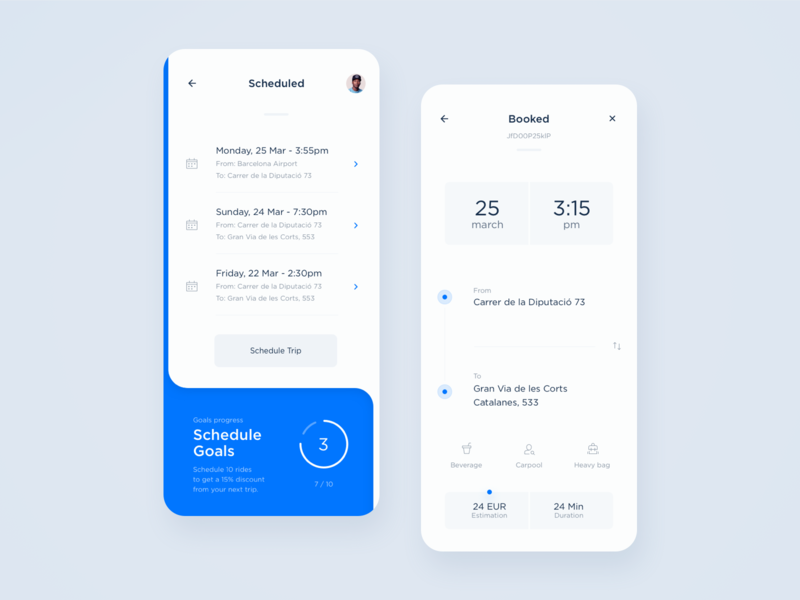 Scheduled trips & details schedule app ui ui  ux tracking analytics taxi taxi app driver interface interaction ux design dashboard ui location map ui data booking statistics mobility
