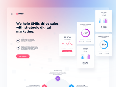 HOD Landing concept dtailstudio time tracker timesheet dashboard freelance project task ui ux web minimal report invoice project management tool app analytics spend marketing
