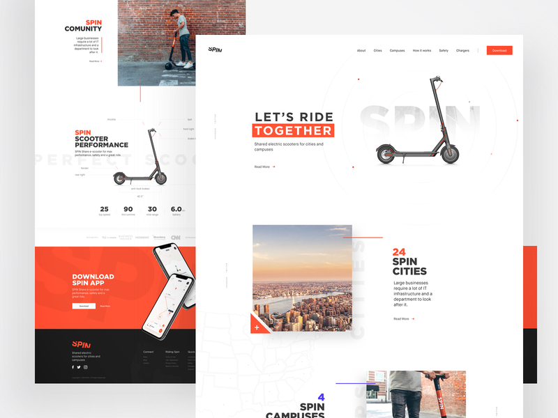 Let's ride together dtailstudio inspiration ux engaging landing page web  design statistics location ux design interaction interface tracking ui  ux ui scooter electric bike rent transportation mobility bike