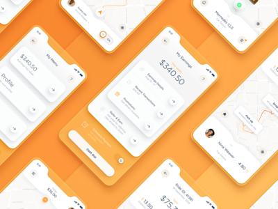 Taxi Driver App UI - SET 1