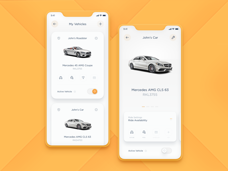 Vehicles & Ride Settings - SET 2 schedule passenger product design dtailstudio interactions driver taxi analysts tracking ui app design system rideshare carpool ride data earnings statistics documents interface