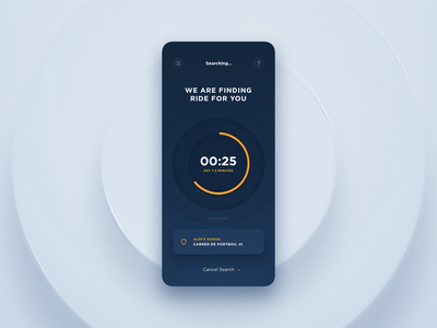 Passenger App - My Locations & Find a Ride ae taxi app favorites traveling design system ux ui interface app interactions loading bar search locations booking data dtailstudio product design passenger schedule